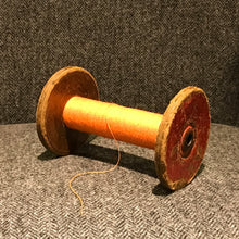 SOLD - Vintage Wooden Bobbin Mill with Cotton