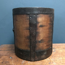 Antique 19th Century Grain Measure with Steel Bands photo 2 | PamPicks