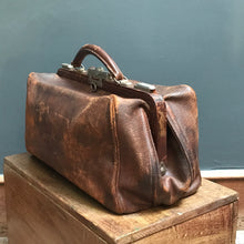 SOLD - Vintage Leather Doctors Gladstone Bag