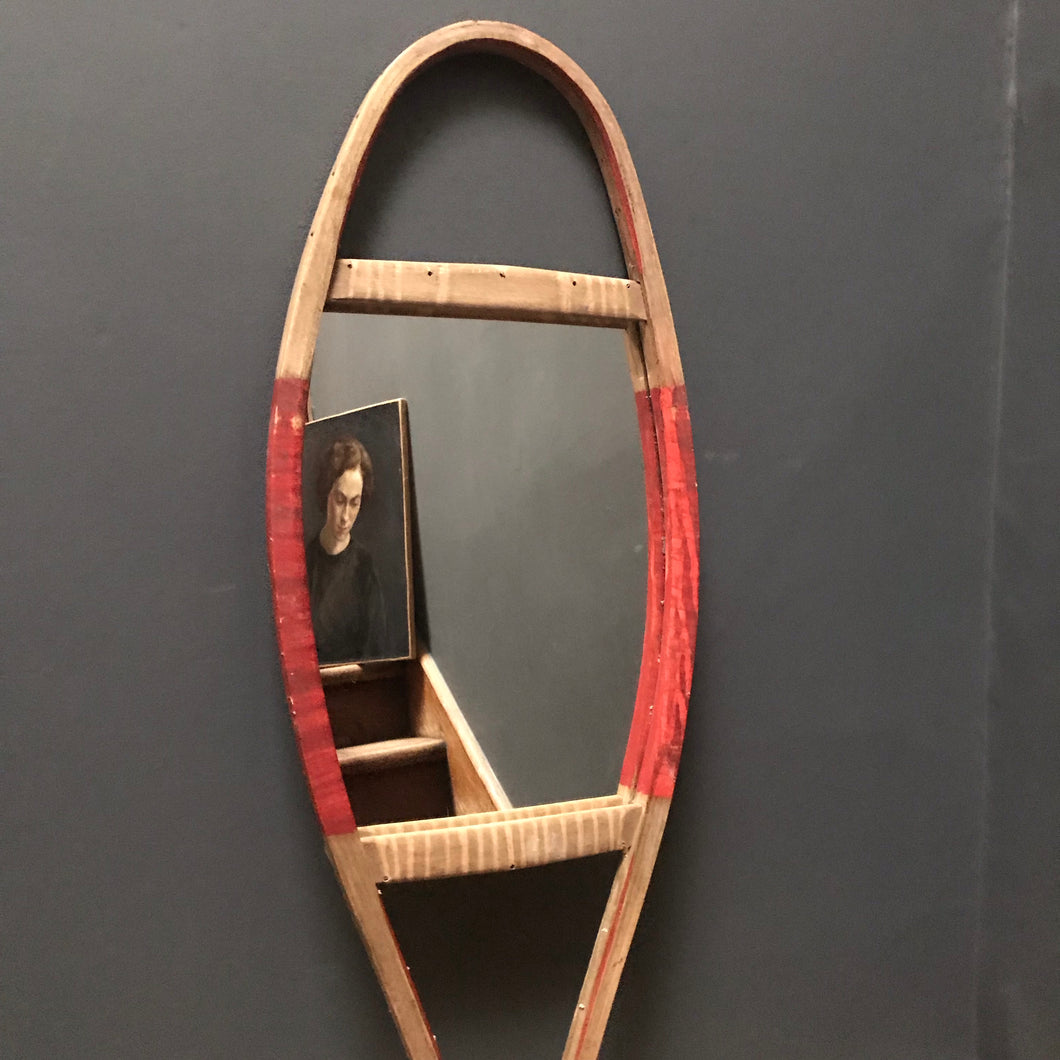 SOLD - Vintage Snow Shoe Mirror