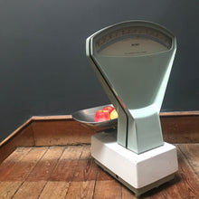 SOLD - Large Vintage White Enamel Avery Grocers Scales
