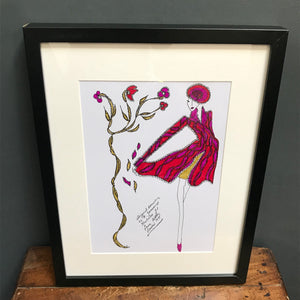 SOLD- Original Fashion Illustration for Laura Ashley
