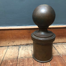 SOLD - Large Antique Brass Staircase Finial