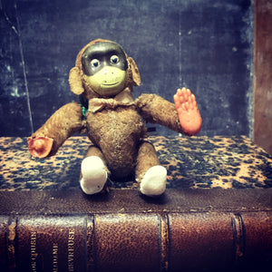 SOLD - 1920s Monkey Toy