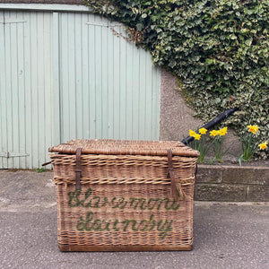 SOLD - Aberdeen Claremont Laundry Wicker Trunk