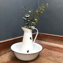 SOLD - Vintage Enamel Wash Basin Bowl