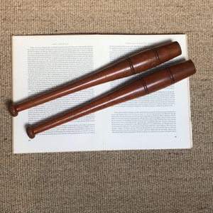 NEW - Tall Set of Vintage Wooden Exercise Clubs
