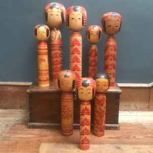 SOLD - Large Japanese Wooden Hand Painted Kokeshi Doll