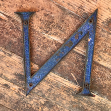 SOLD - Original 1920's Brass & Enamel 'N' Letter