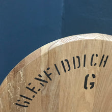 SOLD - Vintage Oak Glenfiddich Whisky Barrel Cask Lid