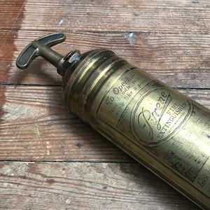 SOLD -Vintage Pyrene Brass Fire Extinguisher Hand Pump Type