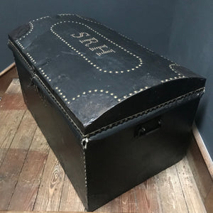 19th Century Dome Top Trunk with brass studs