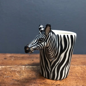 SOLD - Handmade Zebra Expresso Cup