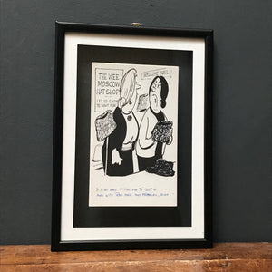 SOLD - Original 'Evening Times' Newspaper Illustration