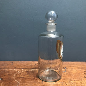 1930's Vintage Chemist Apothecary Glass Bottle photo 3 | PamPicks