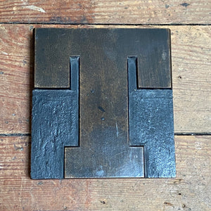 NEW - Vintage Wooden Print Letter 'T' (Large)