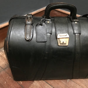 SOLD - Vintage Leather Gladstone Bag