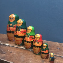SOLD - Vintage Hand Painted Russian Doll (labelled USSR) - 5 Piece - Set