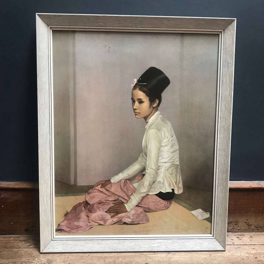 Burmese Lady Framed Print
