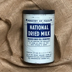 SOLD - Vintage National Dried Milk Tin