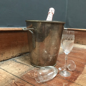 SOLD - Vintage Silver Plated Champagne Ice Bucket