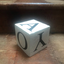 SOLD - Vintage Educational Vowel Cube