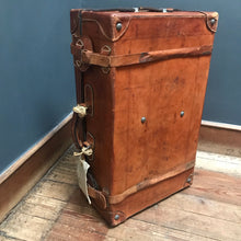 SOLD - Vintage Leather Suitcase with leather straps
