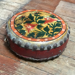 SOLD - Vintage Drum with floral design