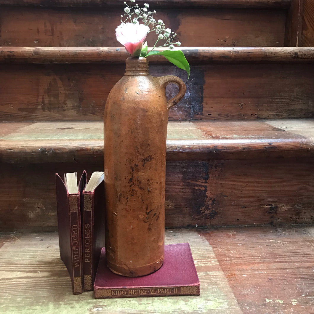 SOLD - Vintage Large Stoneware Wine Bottle