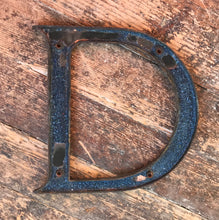 SOLD - Original 1920's Brass & Enamel 'D' Letter