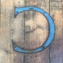 NEW - Large Original 1920's Brass & Enamel 'C' Letter