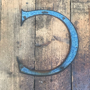 SOLD - Large Original 1920's Brass & Enamel 'C' Letter
