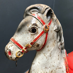 SOLD - Vintage Mobo Ride Along Tin Horse
