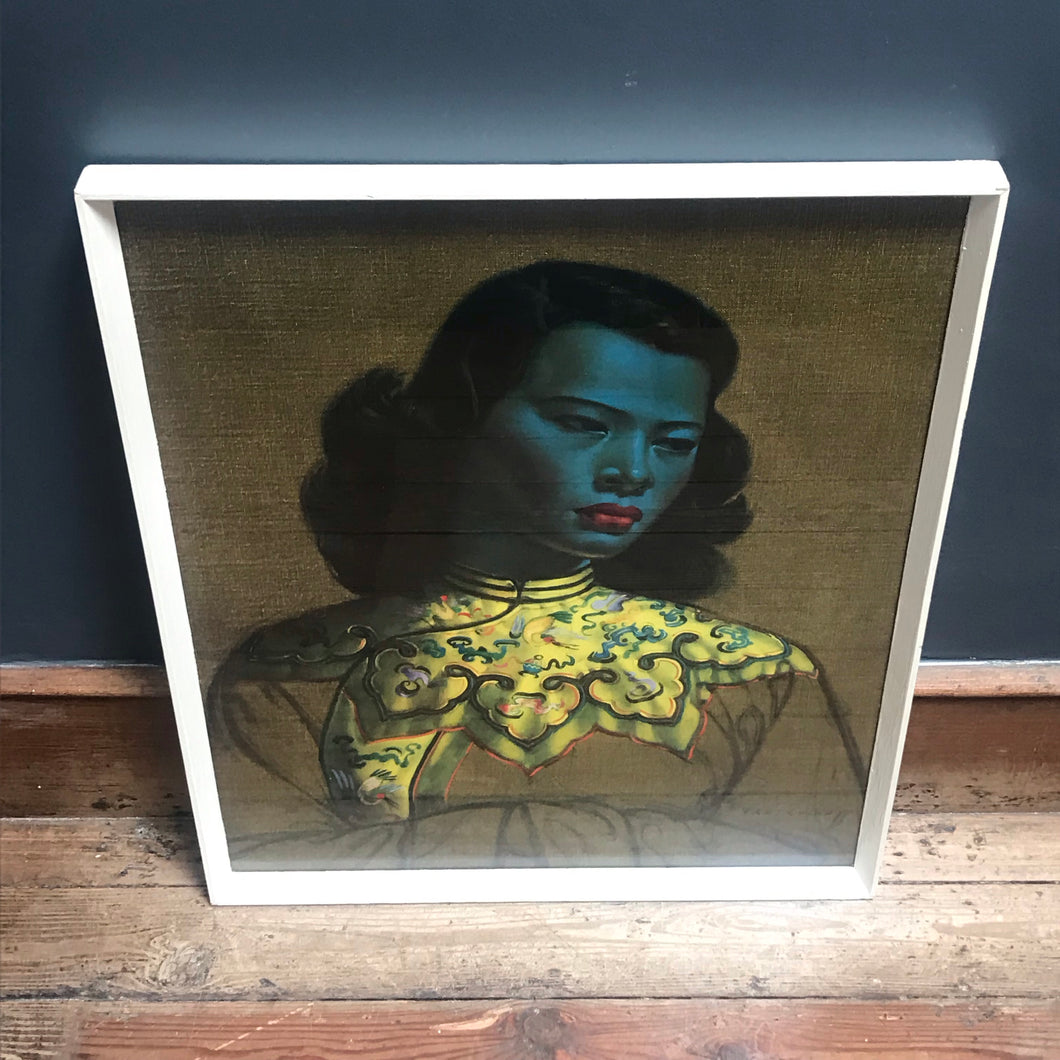 NEW - Iconic Vladimir Tretchikoff Chinese Girl (The Green Lady) Framed Print - Original Mid Century Art