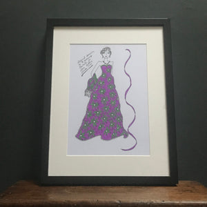 SOLD - Roz Jennings Original Fashion Illustration for Laura Ashley