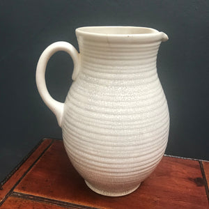 SOLD - 1930's Ribbed Crackle Glaze Water Jug/Vase