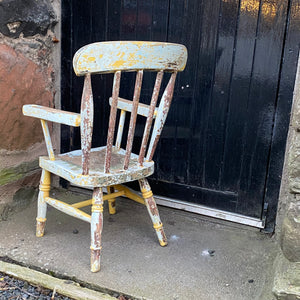 NEW - Antique Child's Spindle Back Chair