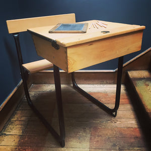 NEW - Vintage Child's School Desk