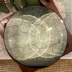 NEW - Large Vintage Magnifying Mounted Lens