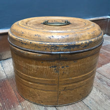 SOLD - Victorian Antique Metal Hat Box
