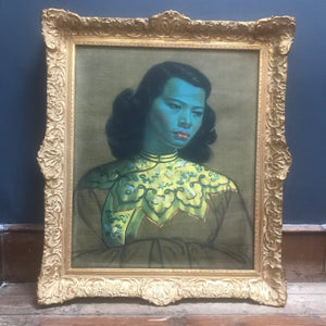 SOLD - Iconic Vladimir Tretchikoff Chinese Girl (The Green Lady) Framed Print - Original Mid Century Art