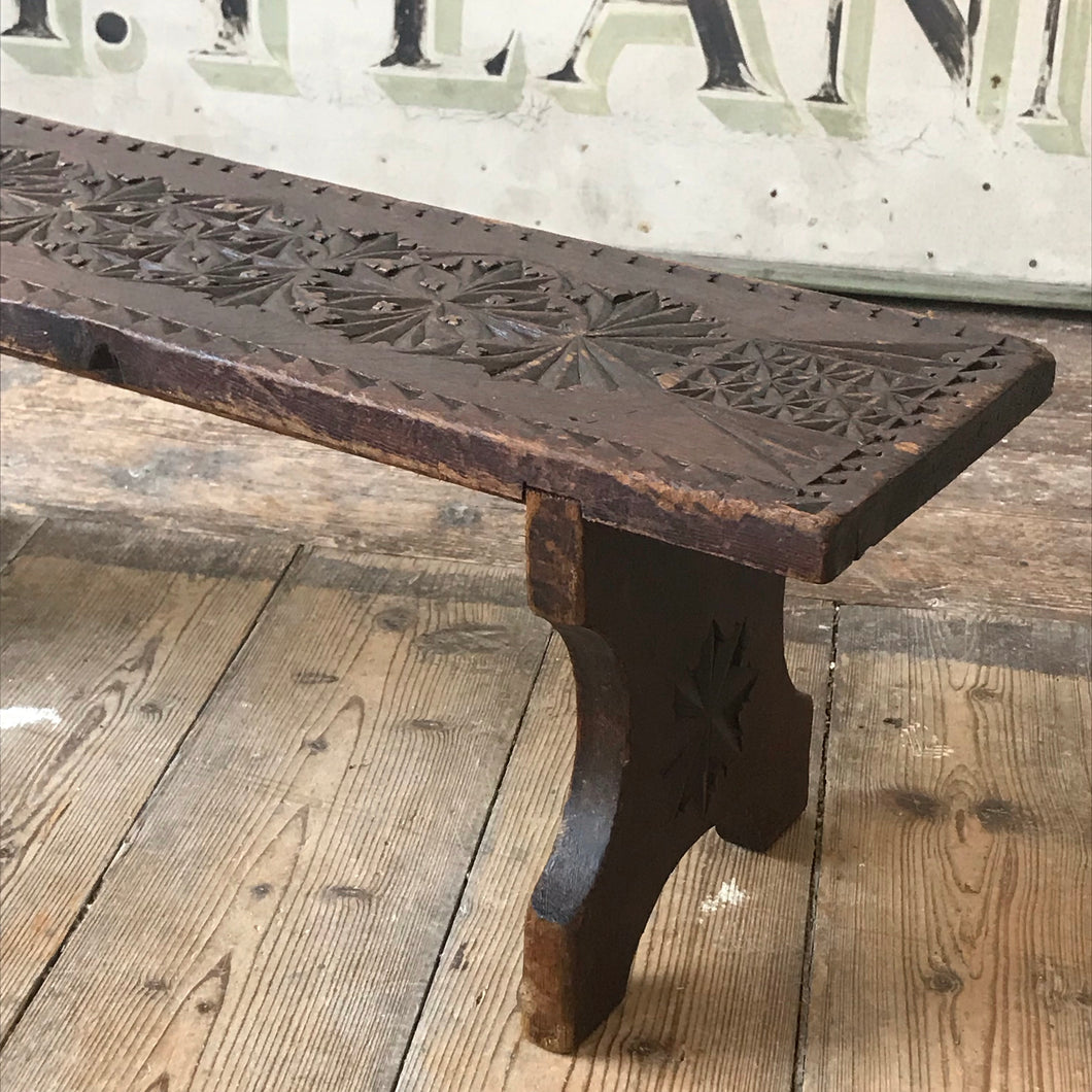 SOLD - Primitive Antique Pine Milking Stool