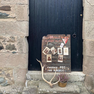 NEW - French Vintage Seed Rack Noticeboard