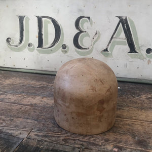 SOLD - Vintage Wooden Hat Block