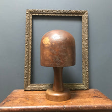 SOLD - Vintage Wooden Hat Block on Stand