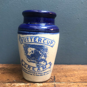 SOLD - Vintage Buttercup Cream Jar