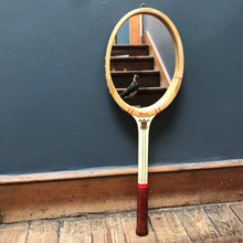 "SOLD - Vintage ""Slazenger"" Tennis Racket Mirror"