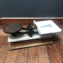 NEW - Victorian Porcelain & Marble Bench Top Scales