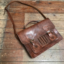 SOLD - Vintage Leather Satchel Bag