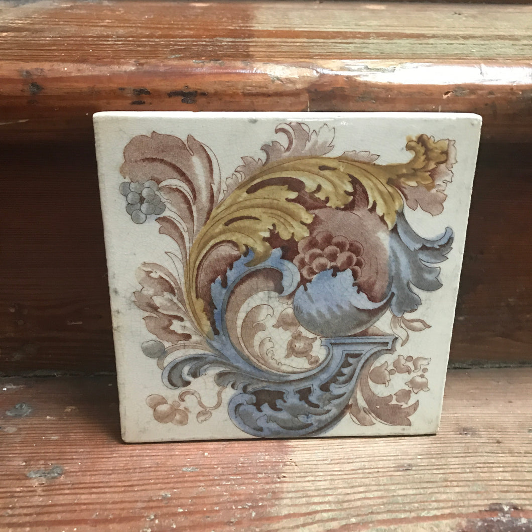 Vintage Ceramic Decorative Tile
